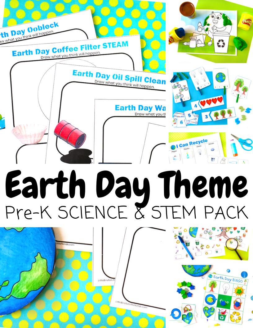 Preschool Earth Day Stem Pack Ultimate Slime Guide